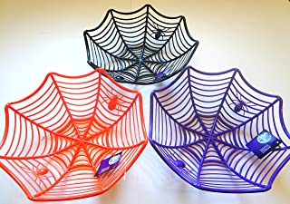 Halloween Spider Web Serving Bowl Set- 3 Bowls for Candy and Snacks
