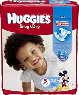 Huggies Snug & Dry Diapers,  Size 5,  24 Count