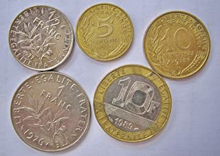 Lot of French France Coins Francs Centimes Pre-Euro European Coins