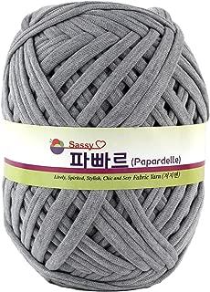 Papardelle Sassy Fabric Tshirt Yarn (Weaved cotton), Gray