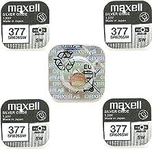 Maxell 377 Pila de óxido de Plata, 1,55 V, 5 Unidades por envase