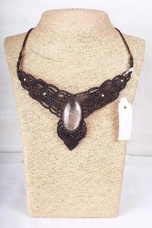 Handmade Macrame Topics on TV Necklace Chick Luxury Pendant C Jewelry Quartz Crystal
