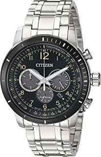 Citizen Men`s `Chronograph` Quartz Stainless Steel Casual Watch, Color:Silver-Toned (Model: CA4358-58E)