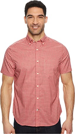 Nautica - Short Sleeve Wear To Work Small Plaid Woven Shirt