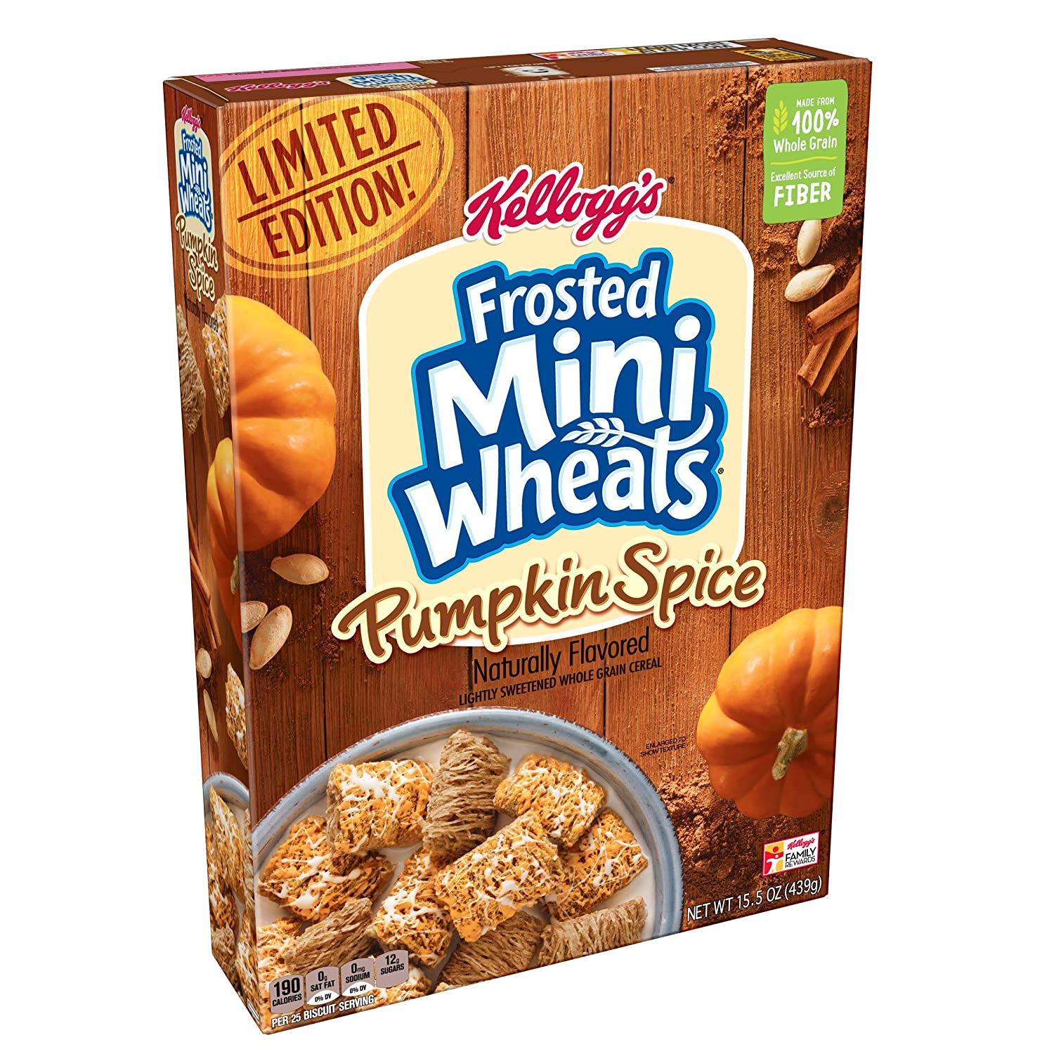 Kellogg's Breakfast Cereal Frosted Pumpkin Spice A Rapid rise surprise price is realized Mini-Wheats