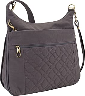 Travelon Travelon Anti-theft Signature Quilted Expansion Crossbody, Smoke (gray) - 43325-531