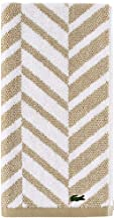 Lacoste Herringbone 100% Cotton Towel, 16x30 Hand, Sand