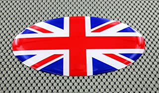 "United Kingdom Oval Domed 3d Decal Sticker 6"" x 3.5"""