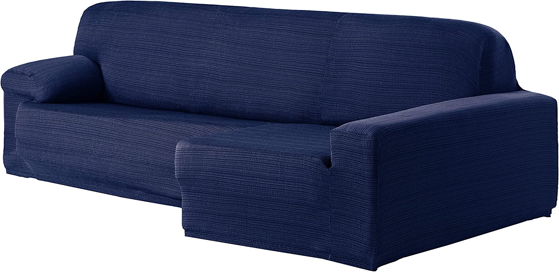 Eysa Aquiles Bi-Elastic Chaise Longue Right, Polyester-Cotton, bluee, 43 x 37 x 14 cm