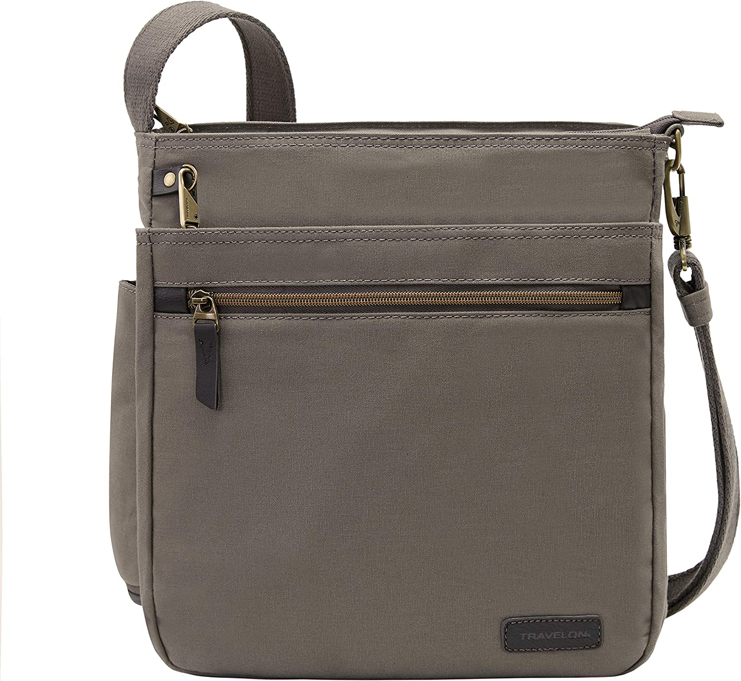 Travelon Anti-Theft Courier N s Max 78% OFF Crossbody Super beauty product restock quality top Bag Gray Stone