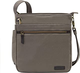 Anti-Theft Courier N/s Crossbody Bag, Stone Gray