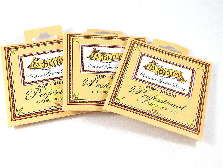 La Bella Cheap mail order shopping Las Vegas Mall Guitar Strings 3 Classical 413 Series Professional Pack
