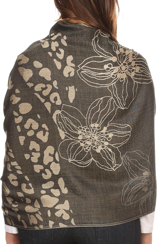 Sakkas Reiley lungo largo stampata floreale patterened Fringe Pashmina Scialle//sciarpa