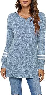 Long Sweatshirts for Women Side Split Womens Tunic...