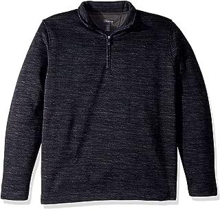 Men's Never Tuck Long Sleeve Space Dye 1/4 Sweater Fleece Pullover