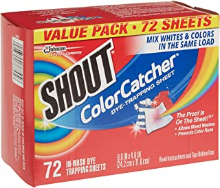 Shout Color Catcher Dye-Trapping Sheet, 72 Count (Pack of 4)