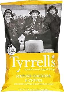 Tyrrell's Crisps, Crisps, Mature Cheddar & Chive, 5.3 Ounce