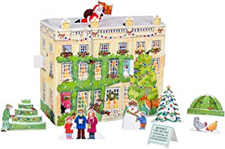 Alison Gardiner Famous Illustrator Unique 3D Traditional Advent Christmas Calendar - Designed in England - Freestanding Christmas Scene with Characters at Highgrove House