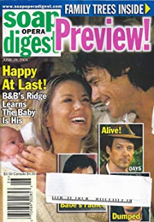Katherine Kelly Lang, Ronn Moss, Bold and the Beautiful, Kristen Alderson, Soaps' Family Trees - June 29, 2004 Soap Opera Digest Magazine