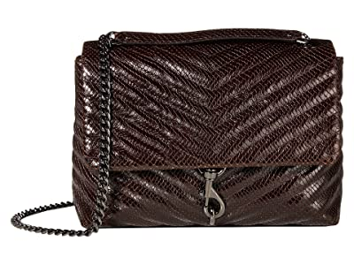 Rebecca Minkoff Edie Flap Shoulder Bag (Ganache) Handbags