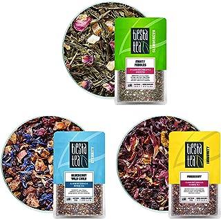 Tiesta Tea - Fruity Loose Leaf Tea Set, Strawberry Green Tea, Blueberry Fruit Tea & Hibiscus Fruit Tea, Medium Caffeine,1....