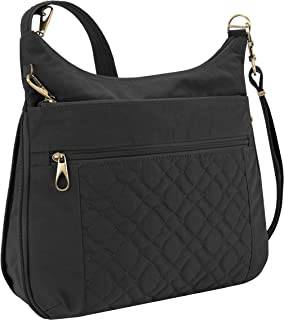 Travelon Anti-theft Signature Quilted Expansion Cross Body Bag, Black