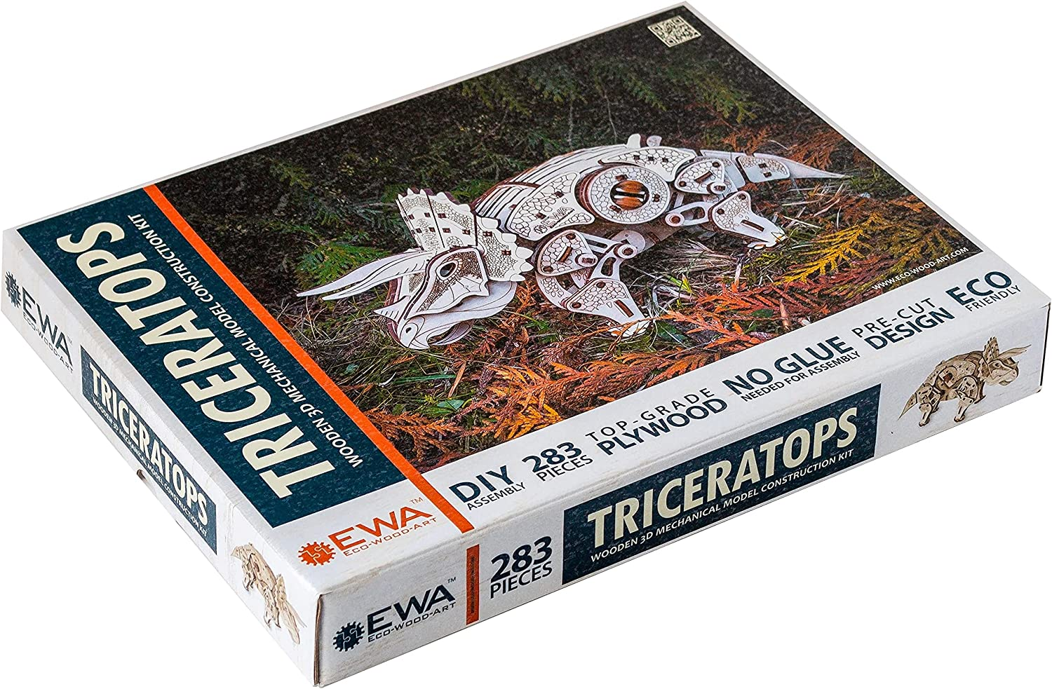 EWA Eco-Wood-Art Triceratops Puzzle Wooden Max 88% OFF 3D Fashionable