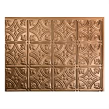 Fasade Easy Installation Traditional 1 Polished Copper Backsplash Panel for Kitchen and Bathrooms (18
