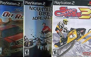 Ford Racing Off Road, Sno Cross 2 Featuring Blair Morgan & Mountain Bike Adrenaline Playstation 2 (3 Pack) Gift Set, Bundle