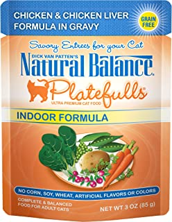 Natural Balance Platefulls Grain Free Cat Food, 3-Ounce Pouches (Pack Of 24
