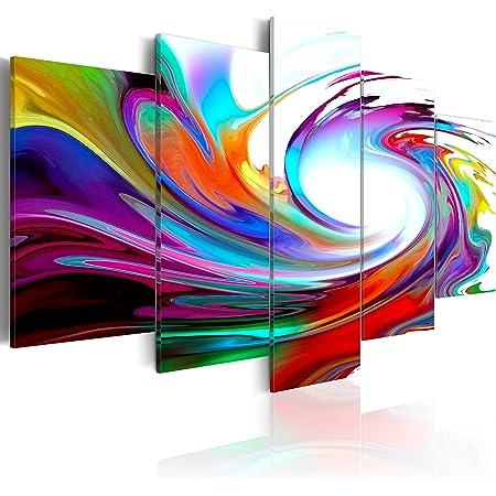 B&D XXL murando Impression sur Toile intissee 200x100 cm cm 5 Parties Tableau Tableaux Decoration Murale Photo Image Artistique Photographie Graphique Abstrait 020101-234