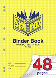 Spirax 123 A4 Binder Book with 9MM Dotted Thirds (48 Pages)