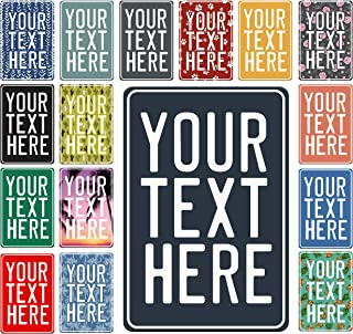 Custom Parking Signs, Add Your Text' Personalized Road Sign  17 Pattern Options   Create Your Own Sign - Aluminum Sign, Unique Gift 8
