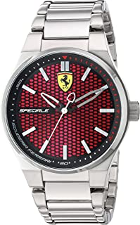 Scuderia Ferrari Men's Quartz Stainless Steel Casual Watch, Color:Silver-Toned (Model: 830357)