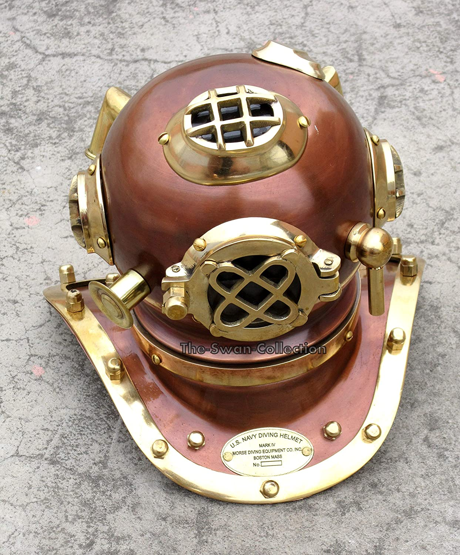 The Swan Nautical Divers Helmet Ranking TOP20 Mark Antique Super sale Decor Copper Marine