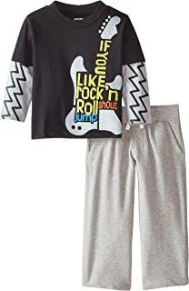 Gerber Graduates Baby and Little Boys' Layered Print Long-Sleeve Top and Pant Set