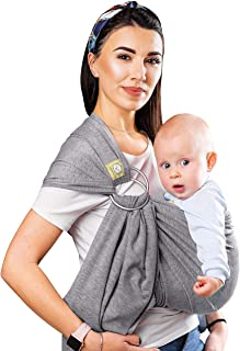 Baby Wrap Ring Sling Ergo Carrier - All-in-1 Stretchy Baby Wraps with Detachable Rings- Baby Sling - Infant Carrier - Baby...
