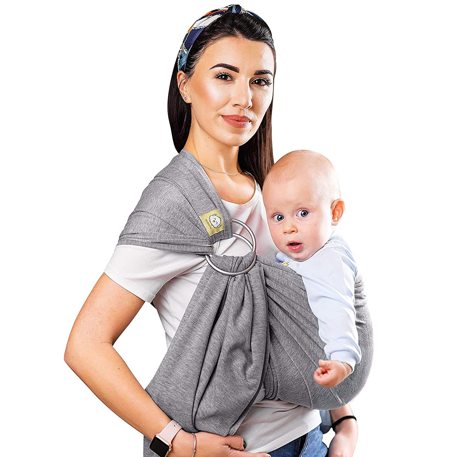 Buy Baby Wrap Ring Sling Ergo Carrier - All-in-1 Stretchy Baby Wraps with  Detachable Rings- Baby Sling - Infant Carrier - Babys Wrap - Hands Free  Babies Carrier Wraps - Baby Shower