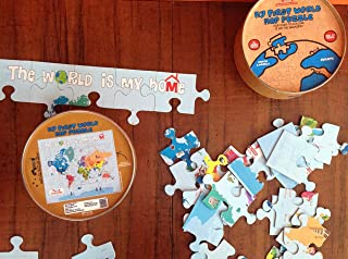 WORLD MAP PUZZLE/Cocomoco kids/games/jigsaw puzzle/toys/educational/map/around the world/travel games/play passport/travel...