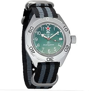 Vostok Amphibian Automatic WR 200m Airborne Forces VDV Self-Winding Amphibia Case Wrist Watch #670307