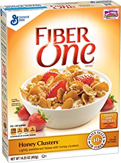 Fiber One Cereal Honey Clusters 14.25 oz Box (pack of 12)