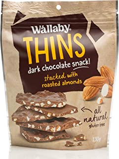 Wallaby Thins Almond Dark Chocolate Snack 130 g