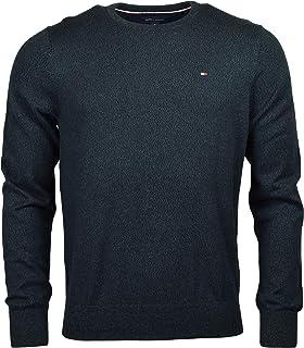Tommy Hilfiger Men's Cotton Crewneck Logo Sweater