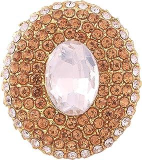 I Jewels 镀金传统女式戒指 (FL37W)