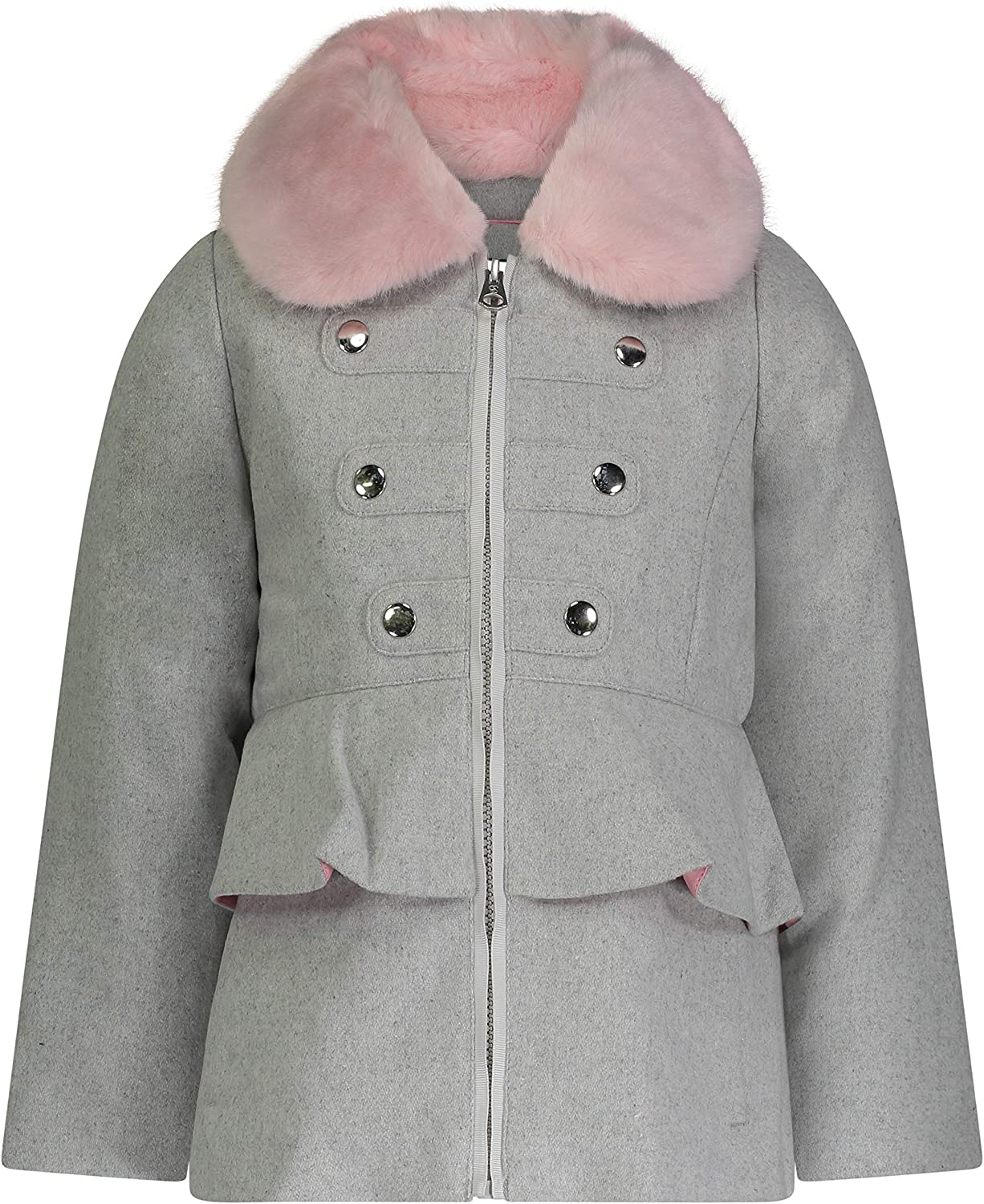 Jessica Clearance SALE Tucson Mall Limited time Simpson Girls' Dress Coat Collar Cozy with Jacket