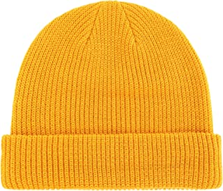 Classic Men's Warm Winter Hats Acrylic Knit Cuff Beanie Cap Daily Beanie Hat