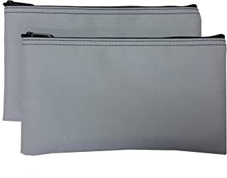 Cardinal Bag Supplies Travel Zipper Bags 11 x 6 inches Small Compact Portable Gray Zippered Cloth Pouches 2 Pack CW