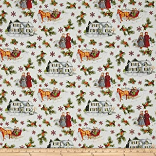 Riley Blake Designs Anne of Green Gables Main Red Fabric By The Yard