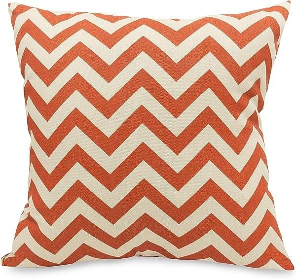 Majestic Home Goods Burnt Orange Chevron Indoor Outdoor Large Pillow 20 L X 8 W X 20 H