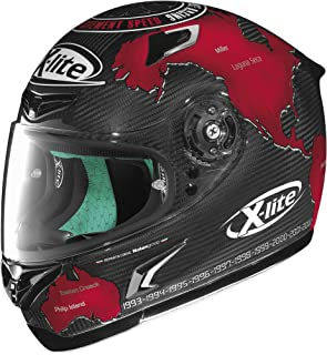 X-Lite X-802RR Ultra Carbon Helmet - Checa (SMALL) (BLACK/RED)